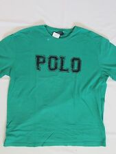 NEW MEN'S POLO BY RALPH LAUREN S/S GRAPHIC CREWNECK T-SHIRT, GREEN, SIZE LARGE