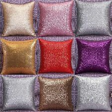 Glitter Solid Sequins Throw Pillow Case Lounge Cafe Decor Cushion Cover B192H