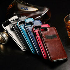 Ultra Slim Leather Wallet Card Slot Back Cover Case For Apple iPhone 7 & 7 Plus