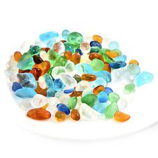 1/2lb Large Tiny Surf Tumbled Blue Sea Glass Fit Art DIY Huge Seaglass Jewelry