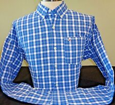 NEW HOLLISTER L/S BUTTON DOWN SHIRT, BLUE/WHITE, PICK SIZE, ABERCROMBIE & FITCH