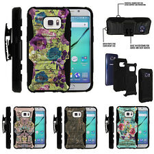 For Samsung Galaxy S7 G930 Holster Clip Stand Case Vibrant Flowers