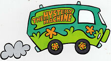 """5-8"""" SCOOBY-DOO MYSTERY MACHINE WALL SAFE STICKER CHARACTER BORDER CUT OUT"""