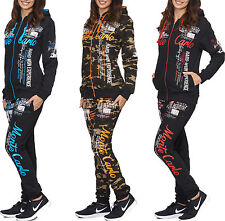 Women's Monte Carlo Jogging Suit Running Jacket Trousers Trackies Trackies