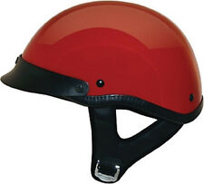 Red Gloss DOT Motorcycle Half Helmet with storage bag 2 sizes fnt