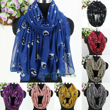 Women's Fashion Scarves Evil Eyes Print Long Scarf Wrap Shawl/Infinity Scarf New