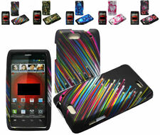 Car Charger+Polycarbonate Rubber Hard Case Cover For Motorola Droid 4 4G XT894