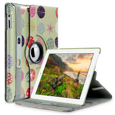 PU Leather Stand Case Smart Cover Wake/Sleep Feature for Apple iPad 2/3/4