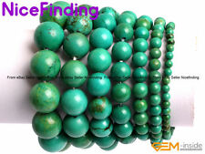 Natural Green Turquoise Energy Healing Stretch Bracelets Jewelry For Man Women