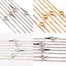 2/10Pcs Gold/Silver/White K Plated Round Clasp Rings Chains Jewelry Finding 17''