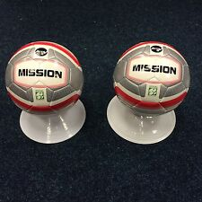 **50% DISCOUNT**   2 x PRECISION MISSION FOOTBALLS (Soft touch) SILVER/BLACK/RED