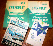 1960 59 Chevy Shop Manuals Nomad Biscayne Bel Air Impala Delray Brookwood Yeoman