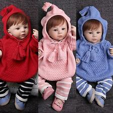 Baby Kids Girls Boys 2PCS Knitted Crochet Outfits Hooded Sweater+Pants Set 1-4Y