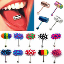 Fashion Rock Vibrating Tongue Ring Body Piercing Jewelry With 2 Batteries