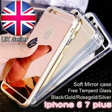 UK Mirror Hard Case Hybrid PC Rubber Glitter Thin Cover And Screen Protector