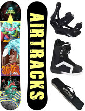 Snowboard Set AIRTRACKS Spaceman Rocker Carbon+Bindings+Boots+Bag+Pad /152 157/