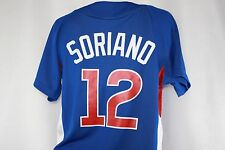 NEW Boys Youth Kids MAJESTIC Chicago CUBS #12 SORIANO Blue Cool Base MLB Jersey