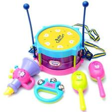 5pcs Kids Baby Roll Drum Musical Instruments Kit Children Early Educational Toy
