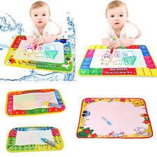 NEW Water Drawing Painting Writing Mat Board Magic Pen Doodle Kids Toy Gifts LOT