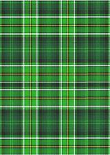 A4 Green Tartan Backing Card or Paper - Pack of 3 - perfect for cardmaking - G4C