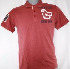 NEW Mens MAJESTIC Boston RED SOX Cooperstown Collection Polo Style Shirt