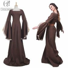 Women Medieval Renaissance Dress Halloween Pirate  Costumes Theater Wench Gown