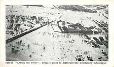 Jeffersonville Indiana IN 1937 Ohio River Flood Colgate Plant Vintage Postcard