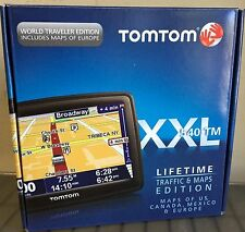 "NEW TomTom XXL 540TM WTE Car GPS LIFETIME US/Canada/Europe MAPS & TRAFFIC 5"" LCD"