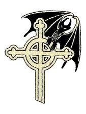 Goth Cross & Bat Patch 7x9.2cm