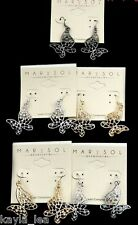 *5 Colors* Rhinestone Butterfly Dangle Earrings Filigree Style #2652