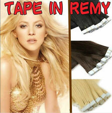 20pcs Tape in 100% Real Remy Human Hair Extensions Virgin Skin Weft PU Hair