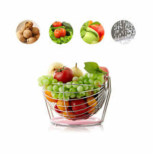 NEW Creative Stainless Steel Fruit Plate Fruit Bowl Rotation Fruit Basket 6924HC