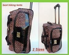 New Leopard Wheeled Duffle Bag Weekend Luggage Overnight Tote Travel Trolley Lrg