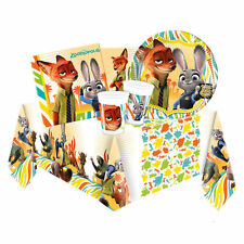 ZOOTROPOLIS Party Pack {Tablecover/Cups/Plates/Napkins} (Birthday/Disney)
