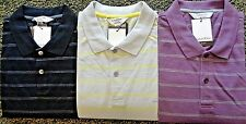 NEW MENS CALVIN KLEIN S/S BODY SLIM FIT STRIPED POLO SHIRT, PICK COLOR & SIZE