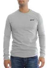 Superdry Long sleeve Men ORANGE LABEL LS VNTGE EMB Grey Marl