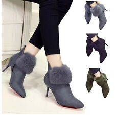 Womens new shoes ankle boots booties high heels stiletto Black Beige GREY