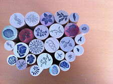 Cylindrical wooden card-makers  Stamps assorted designs ##OUN09JM