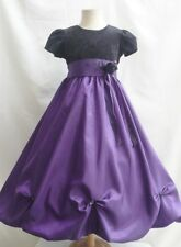 Black red burgundy purple ivory christmas flower girl dress party gown all sizes