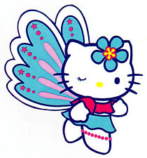 """5-9"""" HELLO KITTY BUTTERFLY CHARACTER WALL SAFE STICKER BORDER CUT OUT"""