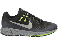 NEW WOMENS NIKE AIR ZOOM STRUCTURE 20 RUNNING SHOES TRAINERS BLACK / METALLIC SI
