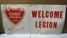 Chief Oshkosh Beer Paper Advertising Sign Banner Wi Brewery  T*