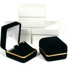 Black & Gold Velvet Earring Gift Box Showcase Display Kit