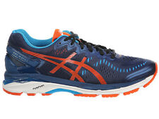 NEW MENS ASICS GEL-KAYANO 23 RUNNING SHOES TRAINERS POSEIDON / FLAME ORANGE / BL