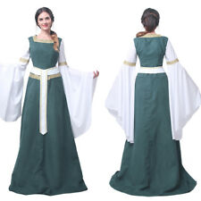 Retro Medieval Renaissance Bell Sleeve Celtic Queen Gown Women Costume Dress