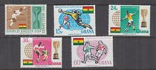 GHANA, 1966 Football World Cup Championship set of 5, mnh.