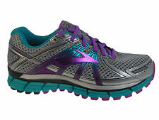 NEW WOMENS BROOKS ADRENALINE GTS 17 RUNNING SHOES TRAINERS SILVER  AA-NARROW