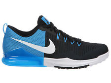 NEW MENS NIKE ZOOM TRAIN ACTION RUNNING SHOES TRAINERS BLACK / BLUE GLOW / WHITE