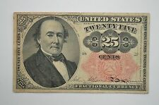 19th Century Twenty Five Cents Fractional Currency, Fifth Issue FR1308 *P34