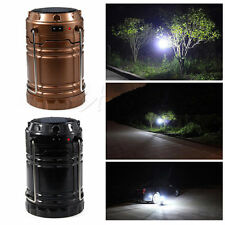 New Collapsible Solar Outdoor Rechargeable Camping Lantern Light LED Hand Lamp